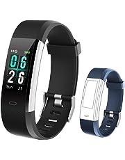 KUNGIX Fitness Armband, IP68 Fitness Tracker mit 0,96 Zoll Farbbildschirm Aktivitätstracker Uhr Wasserdicht Smartwatch Damen 14 Trainingsmodi Smart Watch Pulsmesser Schrittzähler Uhr Herren