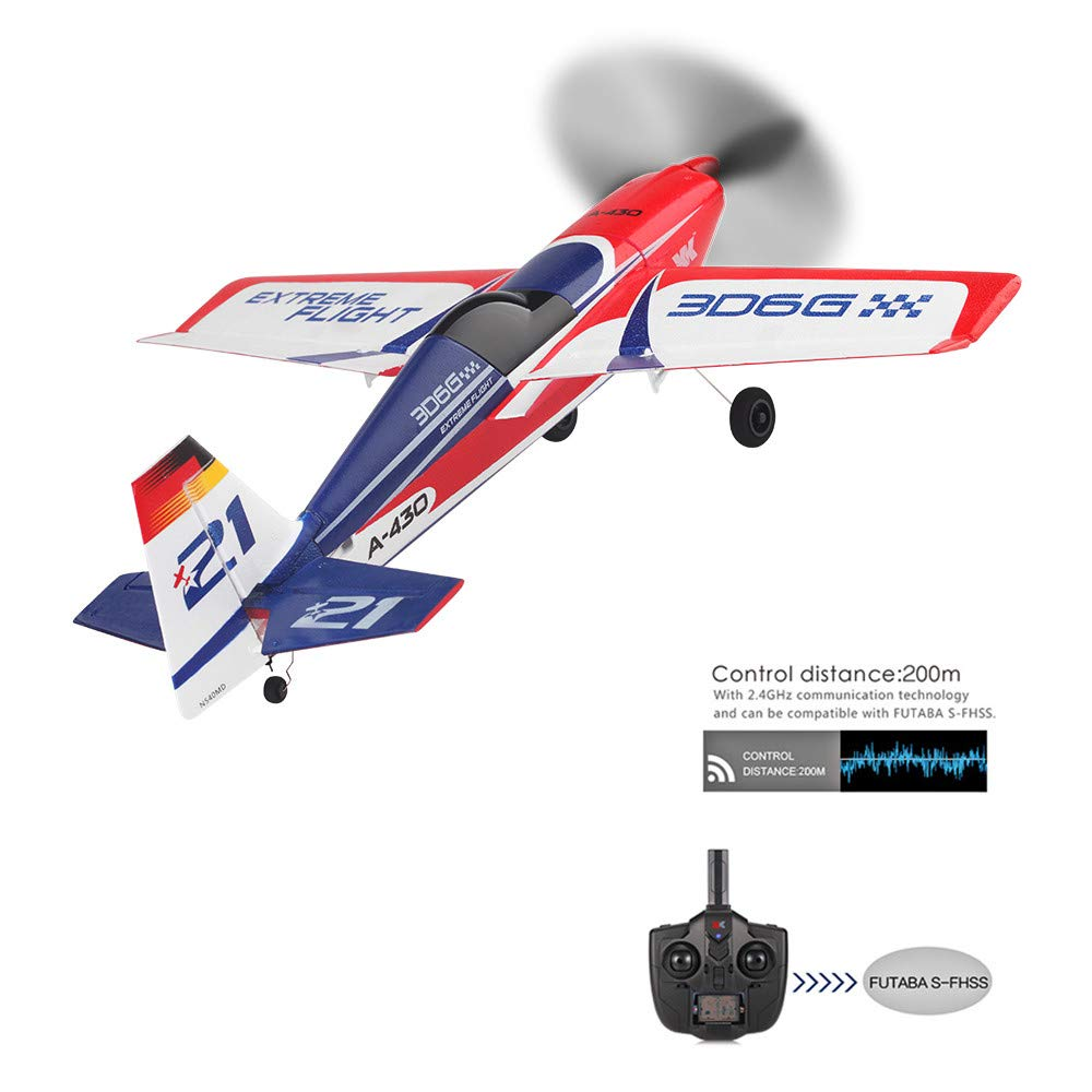 USHOT XK A430 2.4G 5CH Brushless Motor 3D6G System RC Airplane EPS Aircraft