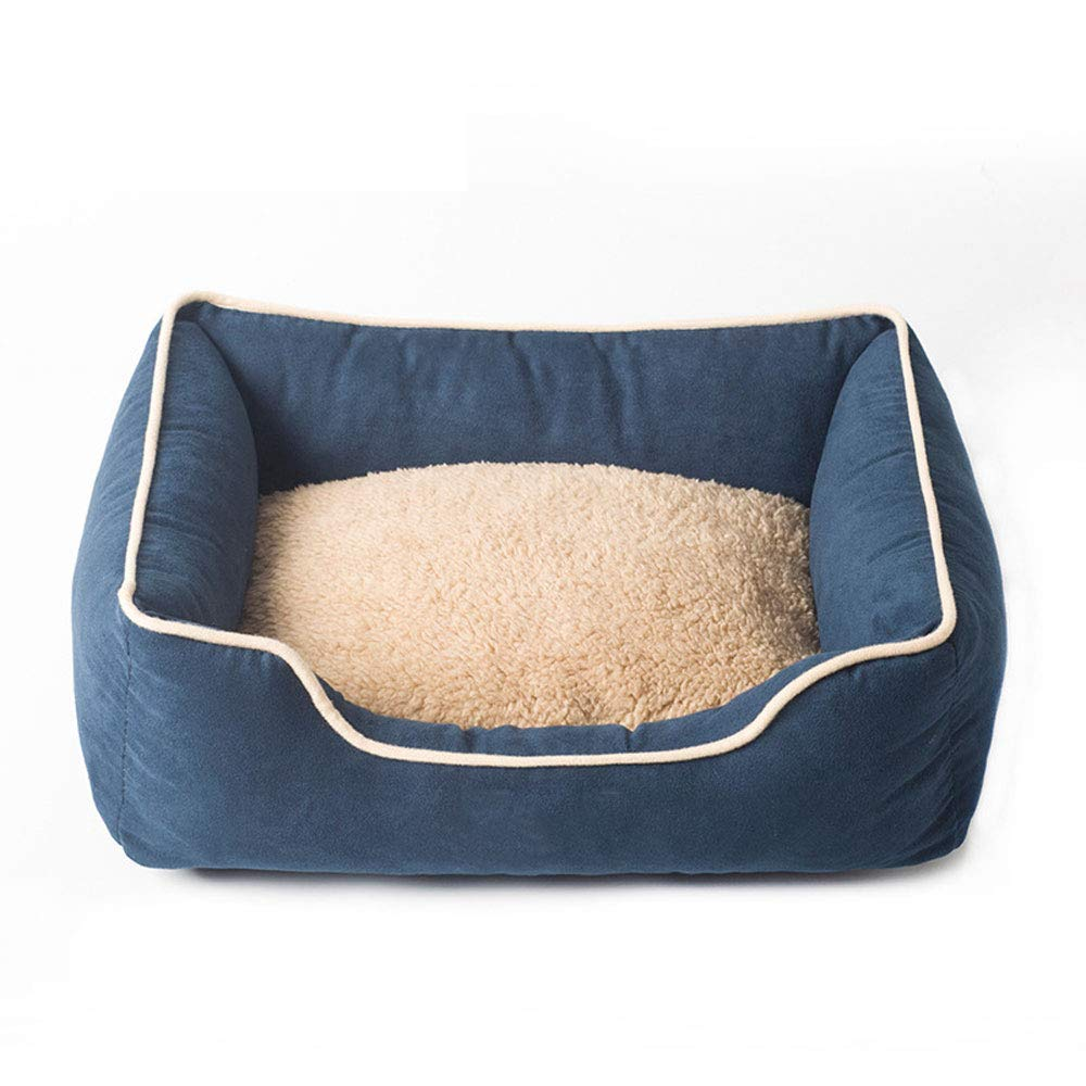Navy Large Navy Large Pet Bed Cat Dog Mat Comfort Velvet Fabric Soft Non-fading Scratch Resistant Bite Cat Dog And Puppy Anti-slip Pet Nest,Navy,L
