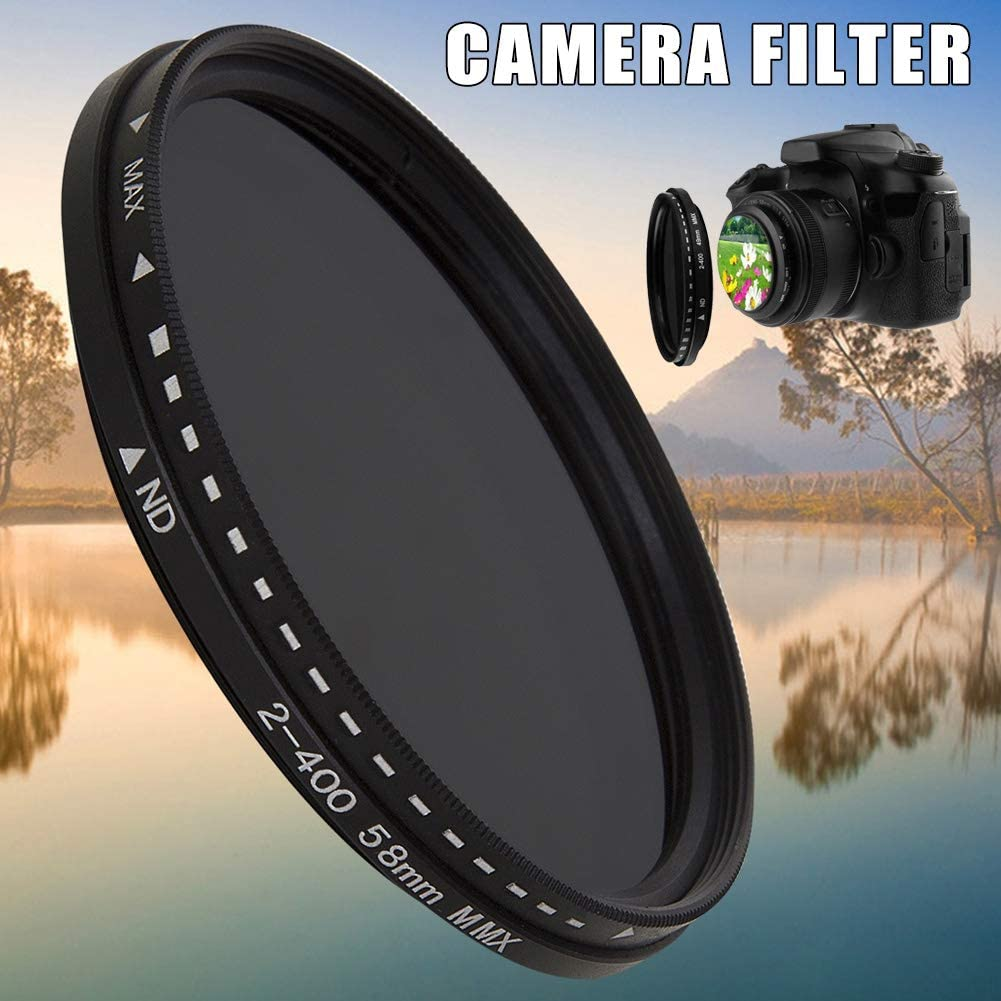 Jzenzero Fader Variable ND Filter Adjustable ND2 to ND400 Neutral Density for Camera Lens