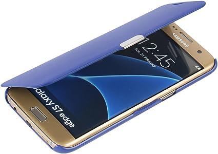 MTRONX para Funda Samsung Galaxy S7 Edge, Cover Case Carcasa Caso Ultra Folio Flip Cuero Delgado Piel con Cierre Magnetico para Samsung Galaxy S7 Edge: Amazon.es: Electrónica