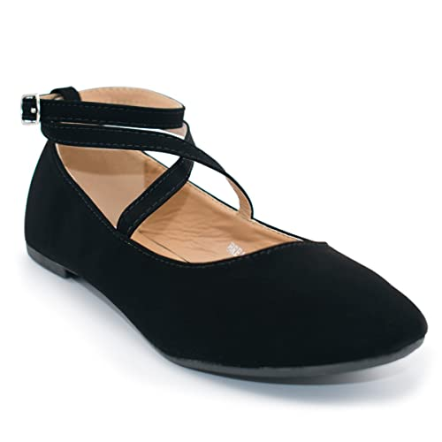 1920s Style Shoes Top Moda Womens Brea-3 Strappy Ballet Flat $30.99 AT vintagedancer.com