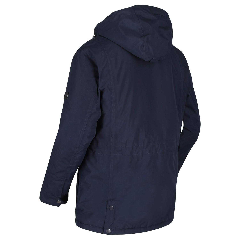 Regatta Men/'s Ranier Waterproof Insulated Jacket with Concealed Hood Black