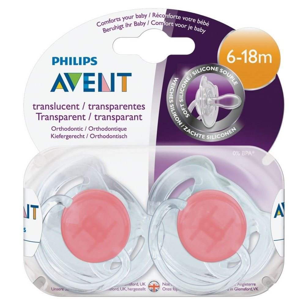 Avent Orthodontic Soothers 6-18mth (2) - Pack of 6