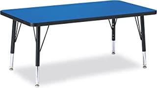 "product image for Berries 6403JCT005 Rectangle Activity Table, T-Height, 24"" x 48"", Gray/Teal/Teal"