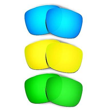 d0c2d583e0 Hkuco Mens Replacement Lenses For Oakley TwoFace Blue 24K Gold Emerald  Green Sunglasses