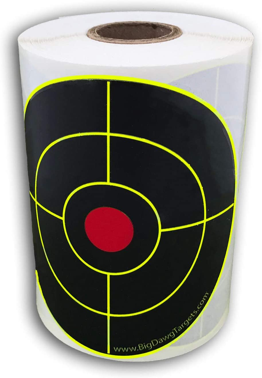 Shooting Target Roll 250 Florescent Bright Adhesive Targets Stickers Dots Green