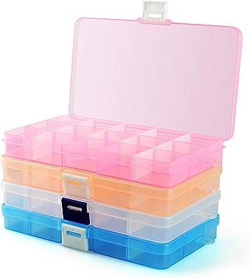 Heatigo - Organizador de Joyas de plástico, Caja de Almacenamiento ...