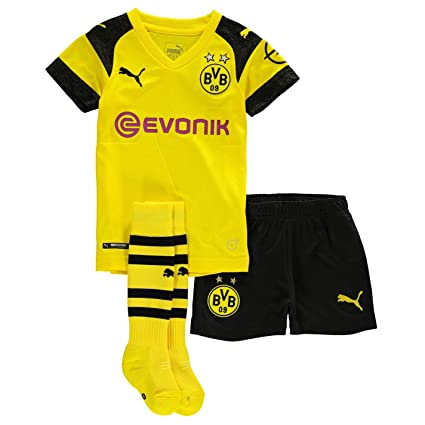3d44c15cd Amazon.com : PUMA 2018-2019 Borussia Dortmund Home Little Boys Mini Kit :  Sports & Outdoors