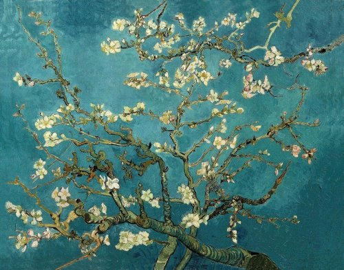 - Vincent van Gogh - Blossoming Almond Tree, Size 24x30 inch, Poster art print wall décor