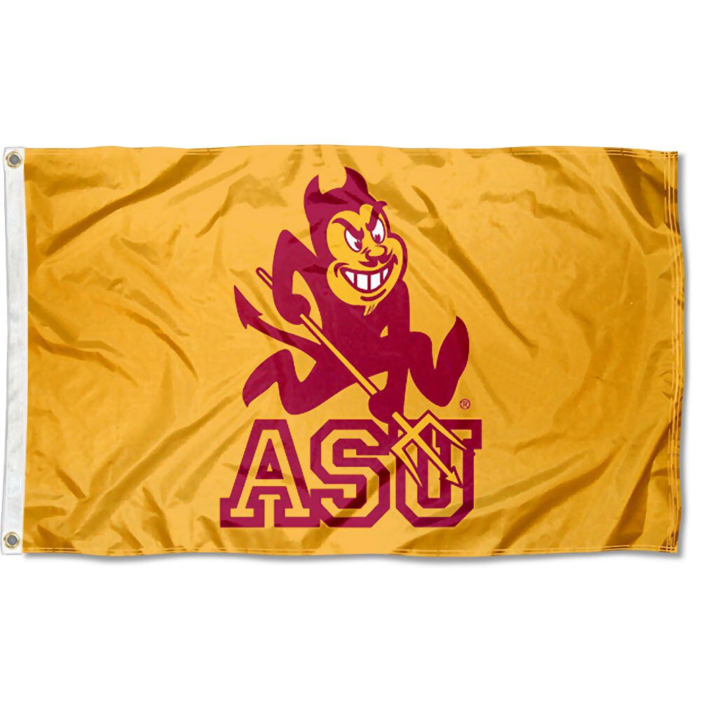 80ea8a51c8d47c Amazon.com : ASU Arizona State Sun Devils University Large College Flag :  Sports & Outdoors