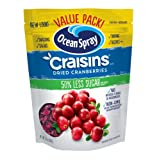 Ocean Spray Craisins Dried Cranberries, Reduced Sugar, 20 Ounce Value Pack (Tamaño: 1 Count of 20 Ounce)