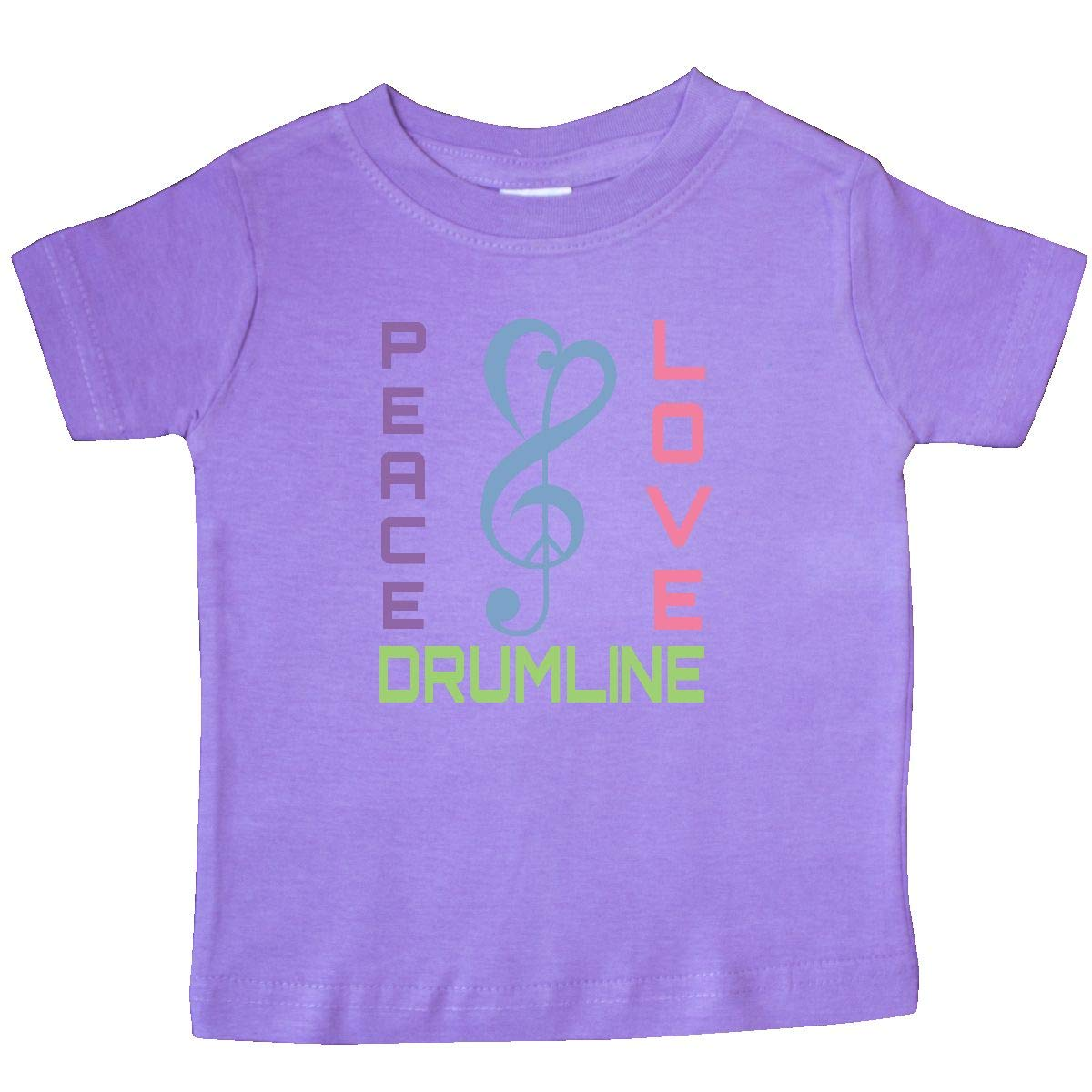 inktastic Peace Love Drumline Baby T-Shirt