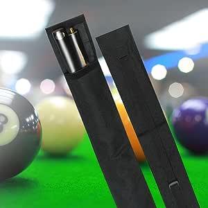 Funda para Tacos Bolsa de Tacos Taco para Piscina Snooker Bolsa de Billar de Nylon Taco de Billar Estuche de Transporte 1/2 3/4 Tamaño Negro: Amazon.es: Deportes y aire libre