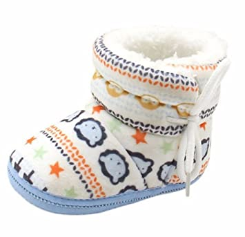 Amazon.com   Newborn Baby Boys Girl Kids First Walkers Shoes Infant Babe  Crib Soft Bottom Striped Boots (3 85ec91edc88a