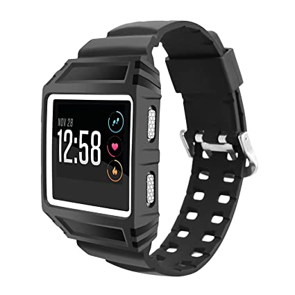 RedTaro Bands Compatible with Fitbit Ionic,Rugged Buckle Case Strap Replacement Bands for Fitbit Ionic Smartwatch