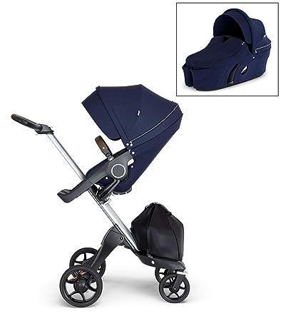 Amazon Com Stokke Xplory V6 Deep Blue Stroller With Brown
