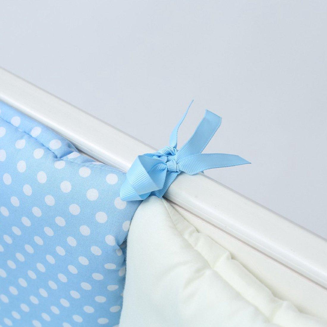 Giraffe 30cm Qianle 6pcs Baby Cot Bed Bumper Breathable Nursery Bedding Set 30