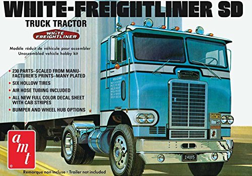 Freightliner Other Freightliner Models (AMT 1004 White-Freightliner SD Truck Tractor 1:25 Scale Plastic Model Kit - Requires Assembly)