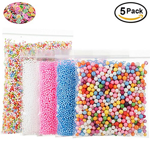 Foam Beads for DIY Slime – Craft Styrofoam Balls 0.1-0.35 inch(47000pcs) for Kids Homemade Slime, Home Decorative, Wedding and Party Decorations (5 (Cute Mothers Day Crafts)