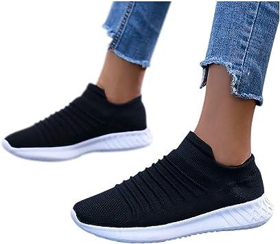 Zapatillas de Deporte Mujer sin Cordones Running Zapatos Gimnasia Entrenamiento Sneakers Transpirables Sport Calzados para Correr en Asfalto para Mujer Zapatillas de Malla para Mujer: Amazon.es: Jardín