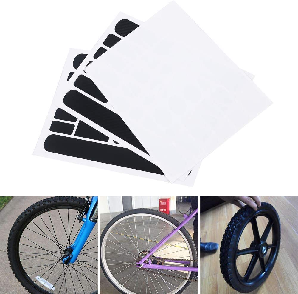 Bigdispawl 2pcs Carbon Fibre Chainstay /& Frame Protector Set for Bicycle Cycle Bike Paster