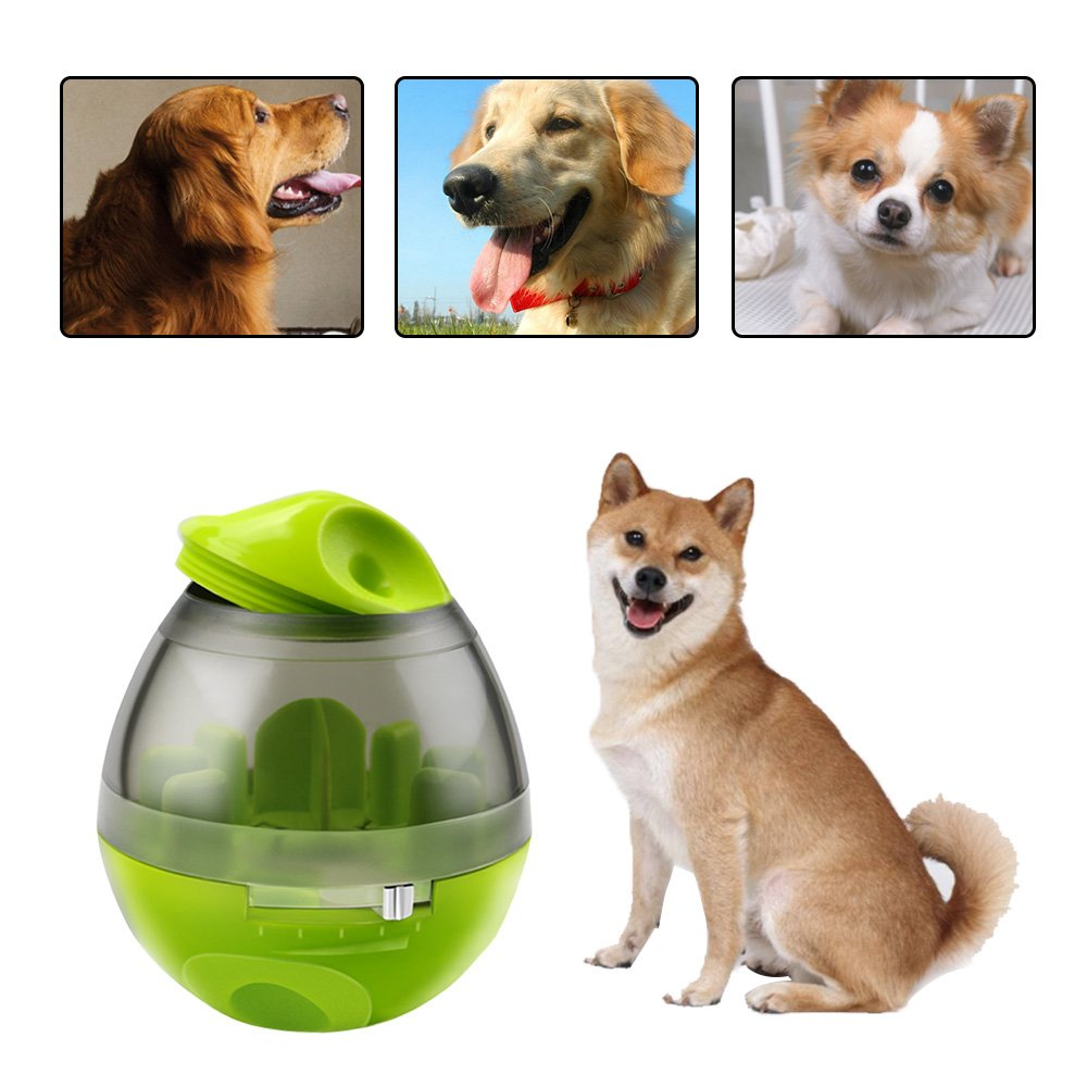 Renfox Dog Food Ball Tumbler Interactive Dog Toys Food Dispenser Treat Ball Dogs Pet IQ Treat Ball Bite Toys Chewing Food Ball Feeding Training Puppy for Dogs and Cats