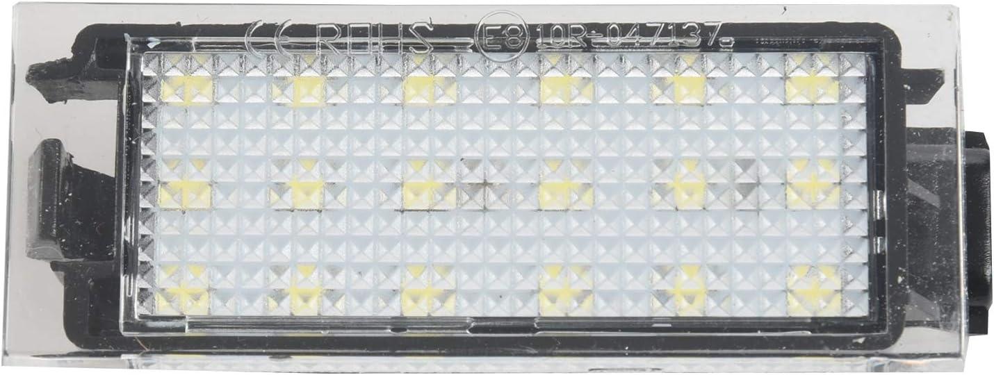 RETYLY 2PZ Luce Targa Auto LED per Renault Megane 2 Clio Laguna 2 Megane 3 Twingo Master Vel Satis