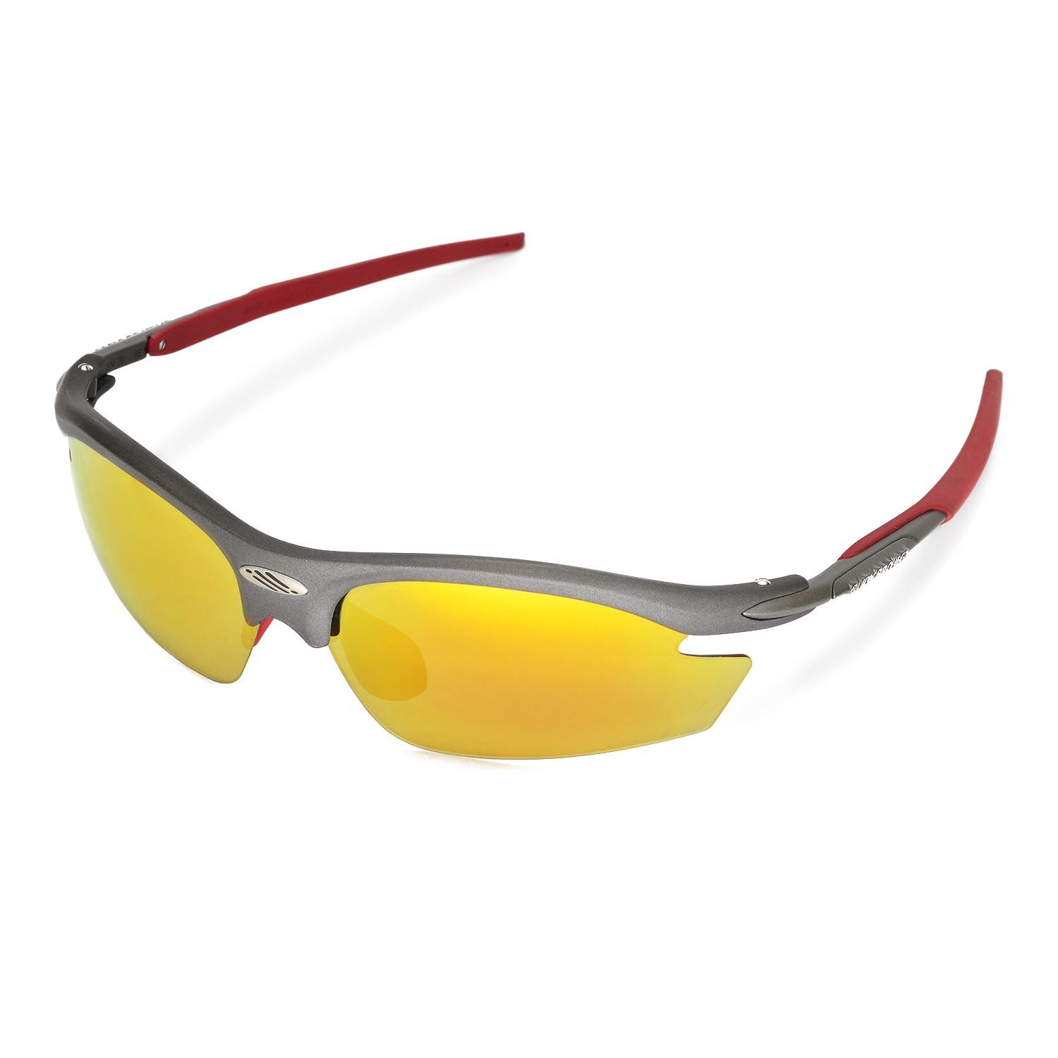 84f369aa13 Amazon.com  Walleva Replacement Lenses for Rudy Project Rydon Sunglasses -  Multiple Options (24K Gold Mirror Coated - Polarized)  Sports   Outdoors