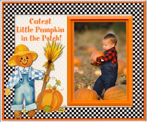(Cutest Pumpkin in the Patch - Halloween Picture Frame Gift)