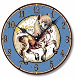 Item C9004 Vintage Style 10.5 Inch Painted Pony Western Clock Review