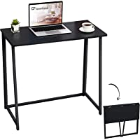 GreenForest Small Desk Folding Computer Desk Space Saving Foldable Writing Table Home Office Study Desk for Children…