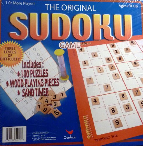 Playing Sudoku (The Original Sudoku Game with 100 Puzzles & Wood Playing Pieces)