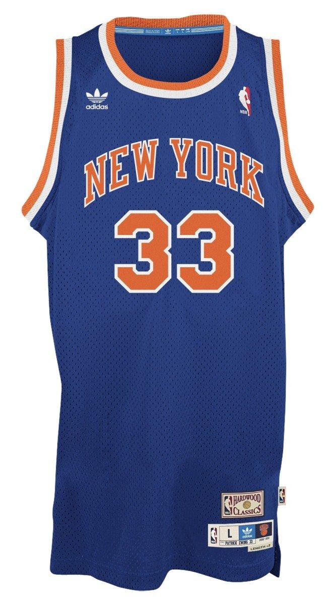 ... Amazon.com Patrick Ewing New York Knicks Adidas NBA Throwback Swingman  Jersey - Blue Sports Houston Rockets 34 Hakeem Olajuwon Soul ... e6f960261