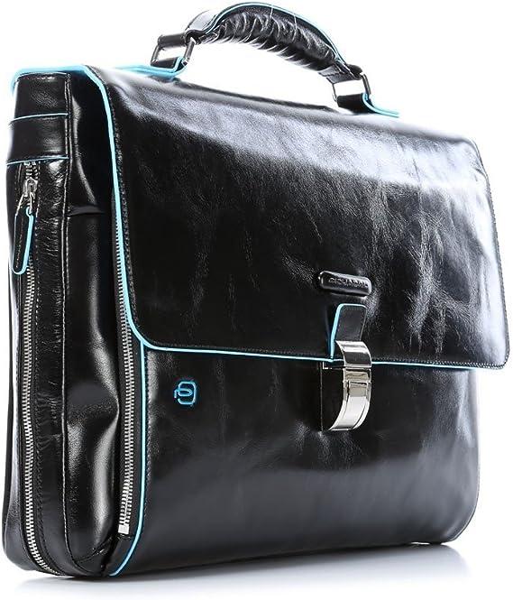 Piquadro Double Handle Computer Briefcase Dark Blue