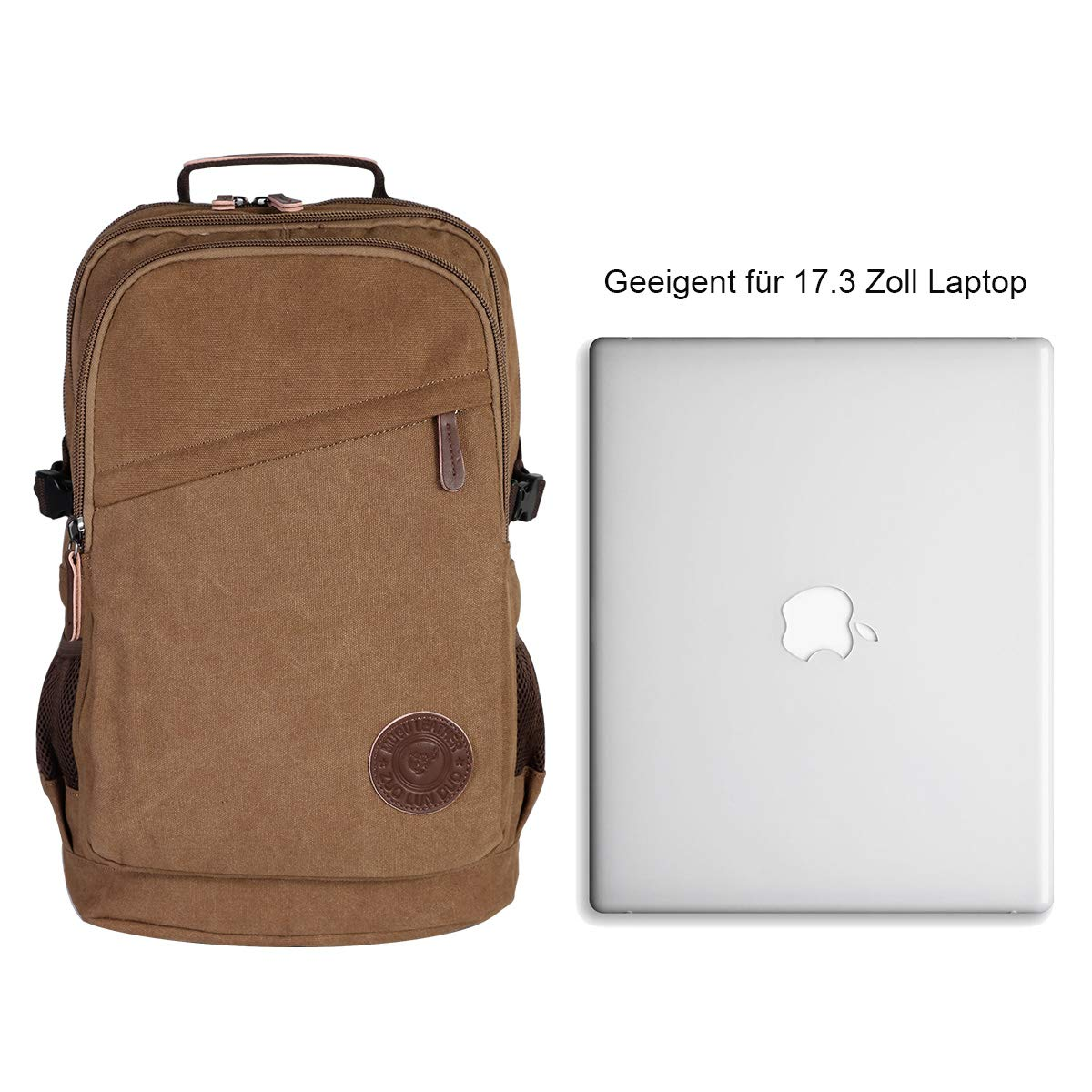 Amazon.com: YAMTION Canvas Backpack 35L Laptop Backpack 17.3