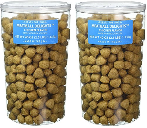(2 Pack) Triumph Pet Meatball Chicken Treats For Dogs, 40-Ounces each