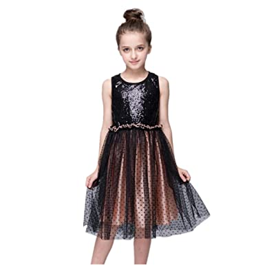 d6f8cebb2 Kingko 2~8 Years Toddler Girls Bling Sequins Sleeveless Tutu ...