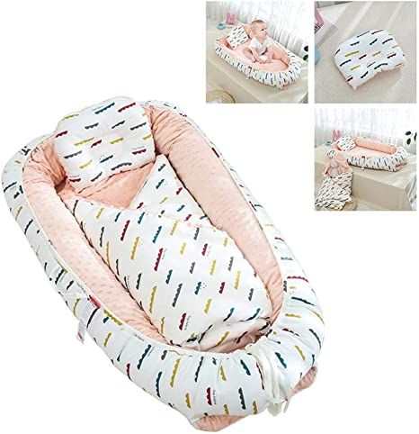 Breathable newborn baby pillow sleep mat crib portable anti-rollover mattress UK
