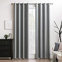 MIULEE 2 Panels Sheer Window Curtains Elegance Grommet Window Voile Panels/Drape