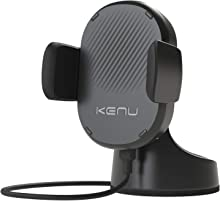 Kenu Airbase Wireless | Qi Fast-Charging Dashboard Car Mount | Wireless Car Charger, Compatible with iPhone Xs Max/Xs iPhone 8 Plus/8, Pixel 3XL/3 Car Accessories, Samsung Galaxy Phone Stand | Black