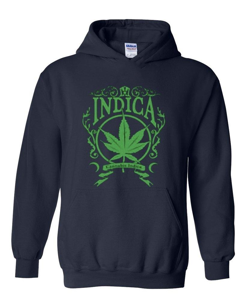 ARTIX Cannabis Indica Weed Leaf Unisex Hoodie Sweatshirt