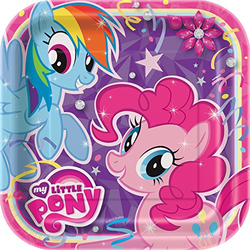 Excellent Dinner Plate - Square My Little Pony Dinner Plates, 8ct