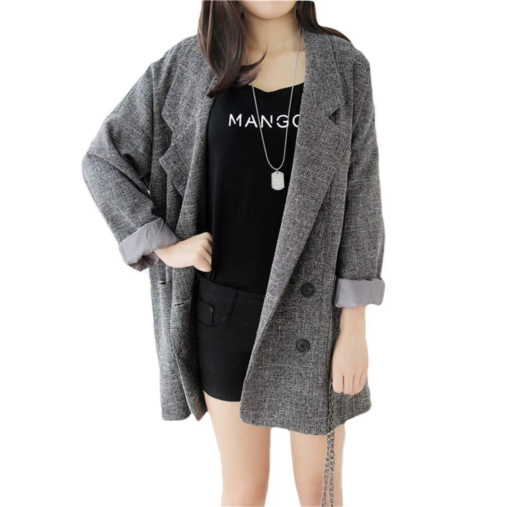 Amazon.com: Blazers - Chaqueta para mujer, ajustada, color ...
