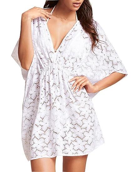085fe7791b185 Womens Swimwear Beachwear Bikini Beach Wear Cover up Kaftan Summer Shirt  Dress  Amazon.ca  Clothing   Accessories