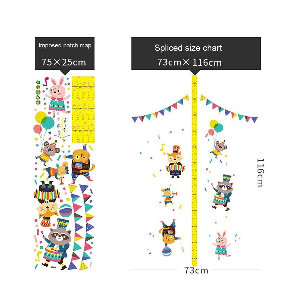Cerf XLGX Tableau de Croissance /Él/éphant//Cerf R/ègle Gradu/ée pour Toise 3D Support Ecriture Taille Appuie-T/ête Amovible EVA Portable Stickers Autocollants Muraux Chambre dEnfants