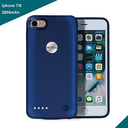 Amazon.com: iPhone 7 carcasa de batería, wojoq Ultra delgada ...