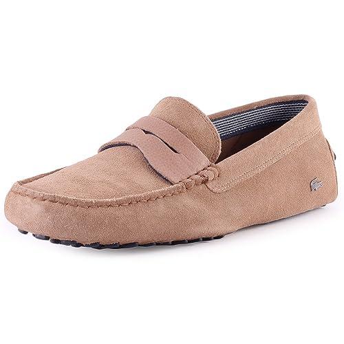 Lacoste Premium suedette Concours Hombre Moccasins, color marrón, talla 40.5 EU: Amazon.es: Zapatos y complementos