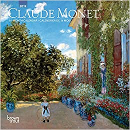 claude monet 2019 mini wall calendar