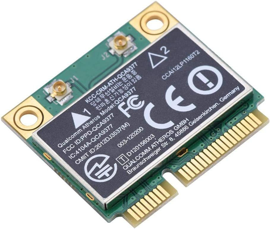 Tarjeta de Red Mini WiFi PCI-E de Doble Banda 2,4 G/5 GHz + Tarjeta de Red Bluetooth 4.2 433 Mbps WiFi Mini PCI-E Tarjeta inalámbrica para Windows 7/10.